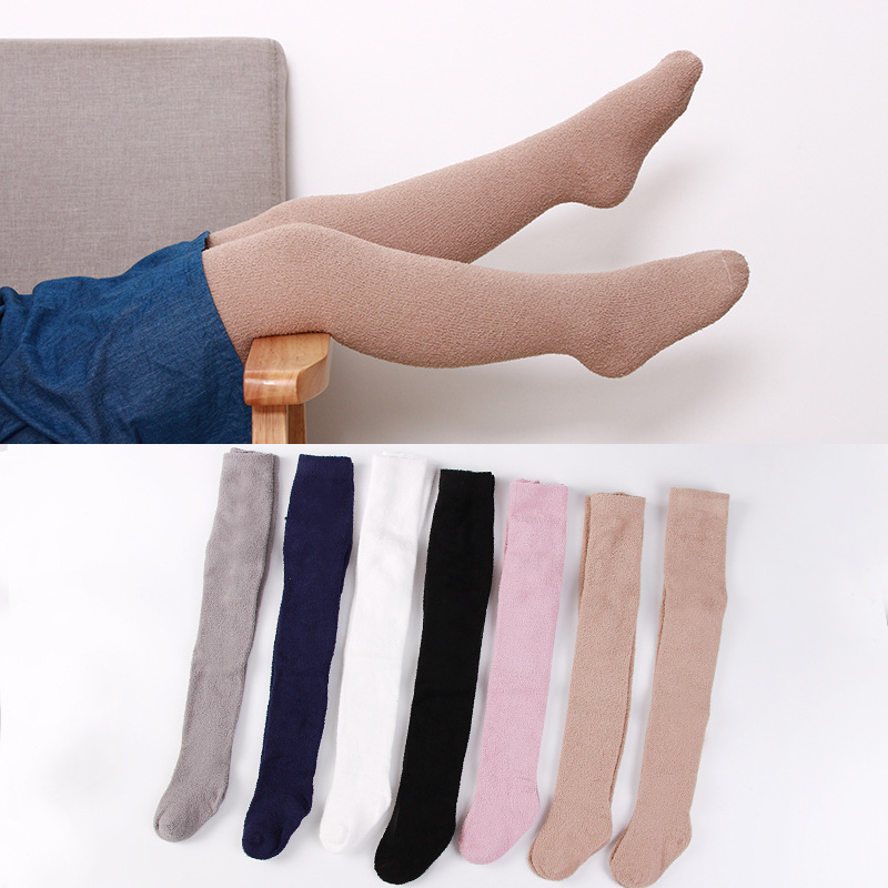 Cloth with soft nap of coral of pantistocking of children of autumn winter money socks of pants of h