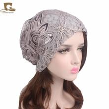 雪纺花朵网孔?#26041;?#24125; 韩版潮流蕾丝花朵套头帽子月子堆堆帽 TTM-23