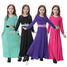 穆斯林阿拉伯中东迪拜沙特马来西亚女孩长袍长裙连衣裙,TH603