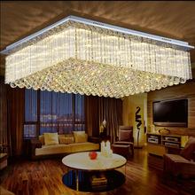 LED吸顶灯长方形客厅灯大气水晶卧室书房餐厅灯现代水晶灯