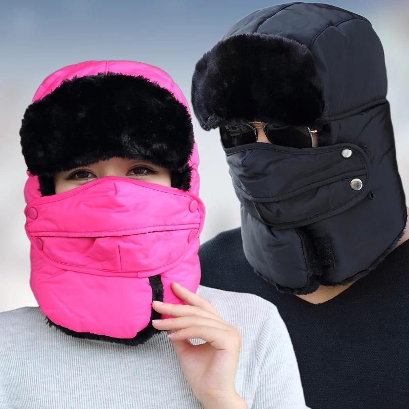 9527女冬季雷鋒帽男加厚加絨保暖護耳滑雪戶外騎車防風防寒雷鋒帽