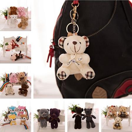 毛绒玩具小熊公仔熊手机包包钥匙扣韩版关节熊泰迪熊挂件批发赠品