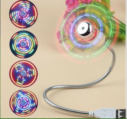 USB七彩发光风扇|USB闪字风扇|迷你闪光风扇|USB广告礼品风扇