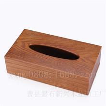 菏泽市曹县厂家加工定做 密度板贴皮喷漆木质纸巾盒