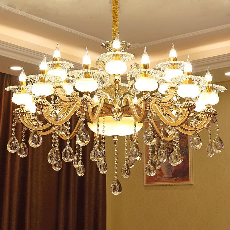 欧式水晶客厅吊灯别墅会所酒店吊灯锌合金蜡烛卧室餐厅书房吊灯具