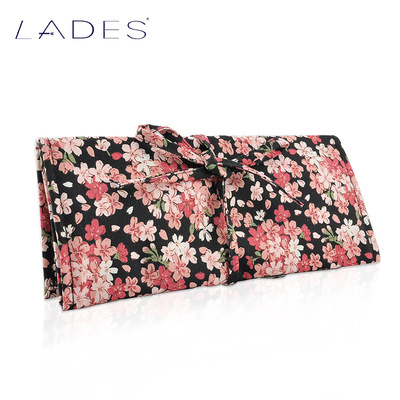 LADES blue night cherry red cotton, silk water dye printing 10 make-up brush to receive package package tool