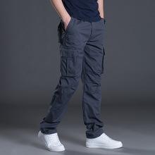 外贸供货春秋新款男士工装裤潮流纯棉多口袋宽松工装长裤多色批发