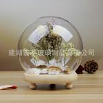 永生花玻璃罩微景观防尘罩客厅桌面摆件球形玻璃罩保鲜花防尘罩子