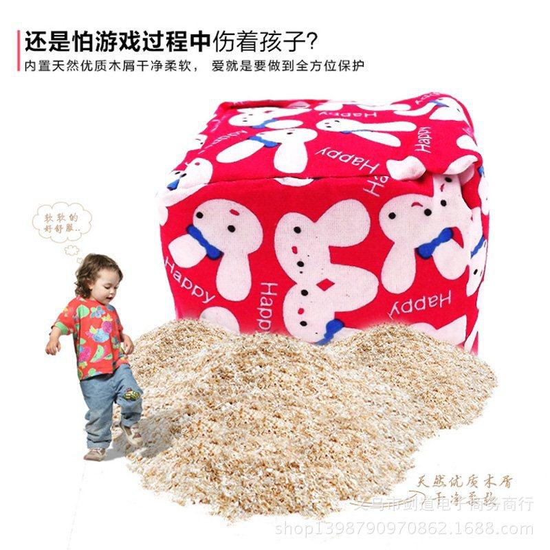 带绳沙包儿童手工幼儿园玩具小学生游戏帆布软丢扔卡通动物小沙包
