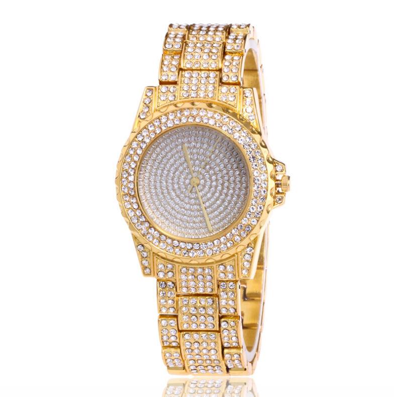 外貿爆款滿天星水鉆鑲鉆鋼帶手表 高檔時尚女士石英腕表 廠家批發