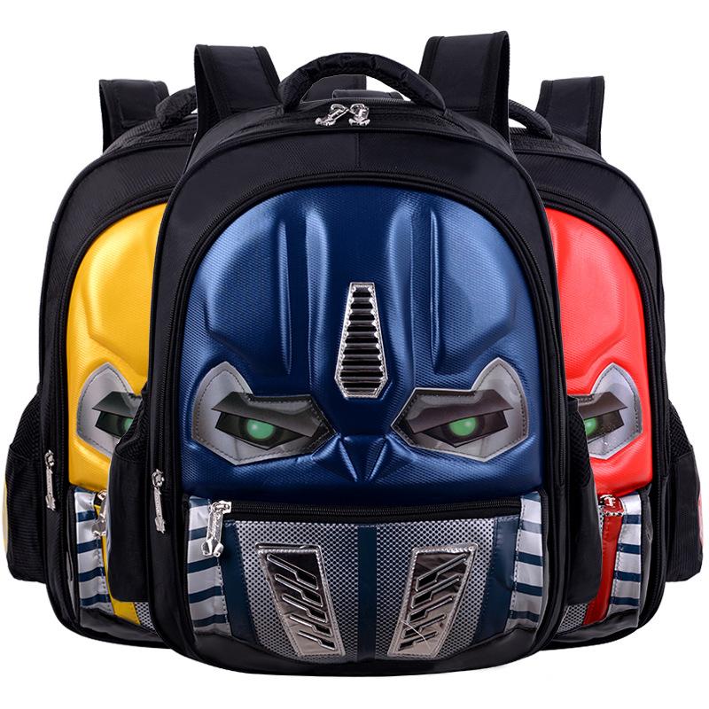 小学生书包1-3-6年级硬壳汽车儿童防水3D炫灯双肩包订做一件代发
