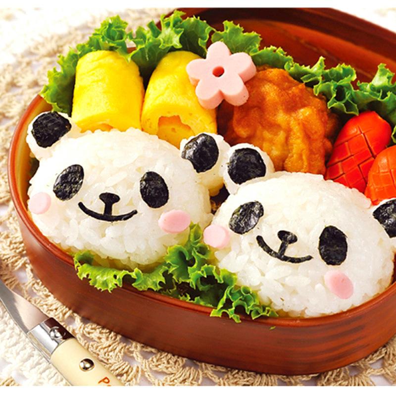 新款diy烘焙创意卡通造型 可爱熊猫寿司套装 饭团海苔紫菜压花器