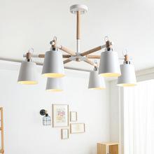 ?#30340;?#21407;木灯具简约北欧美木艺吊灯现代客厅灯卧室灯儿童书房吸顶灯