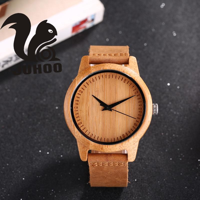 手錶日本外貿石英手表 竹木手表 外贸爆款男士石英手表现货专供