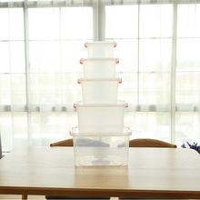 桌面加厚家用塑料收納箱透明收納盒車載儲物箱整理玩具箱零食批發