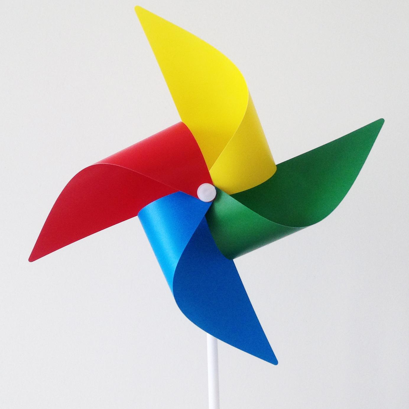 儿童玩具创意四色印刷风车广告宣传四角纯色风车定制logo批发装饰