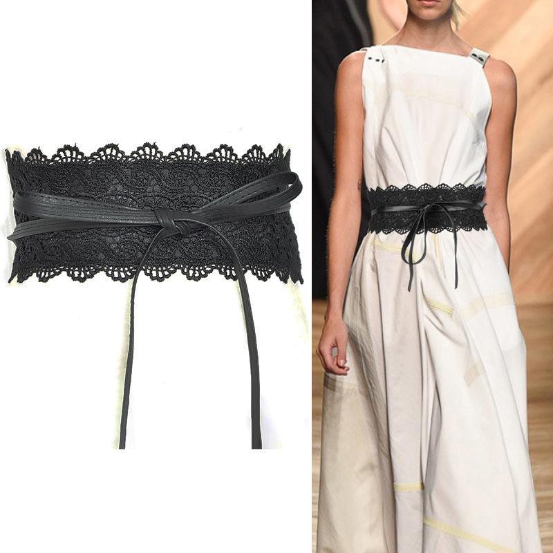 女士腰带27色可选蕾丝花边超宽腰带 甜美腰带女 宽腰封 女士皮带