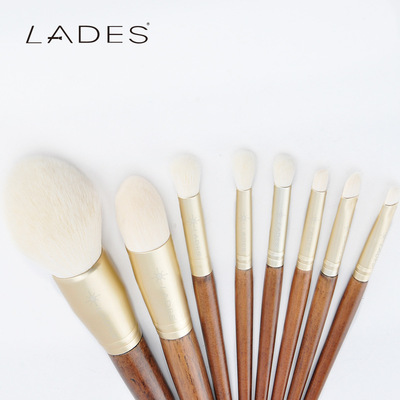LADES blue's silk white 10 make-up brush plant fiber suits Makeup tools can be OEM