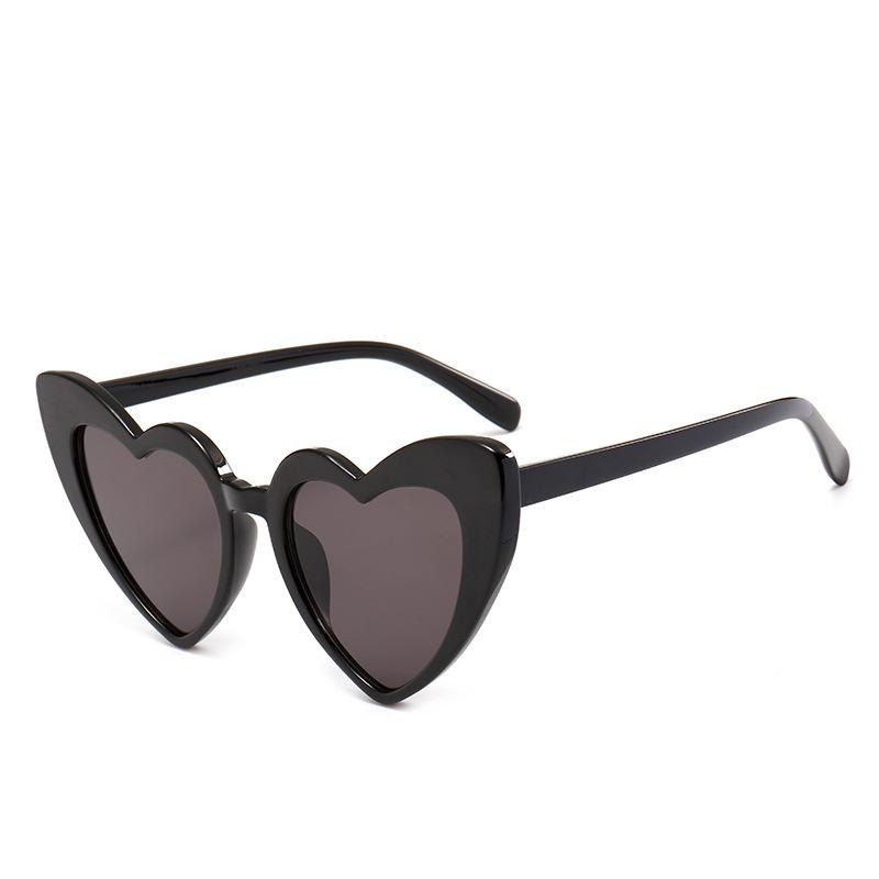 2018新款时尚爱心太阳镜 刘嘉玲同款墨镜女 渐变色心形眼镜 价优