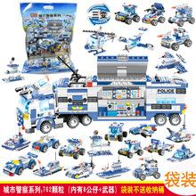品兴积木PX130兼容乐高积木特警城市军事警察系列幼儿园拼装积木