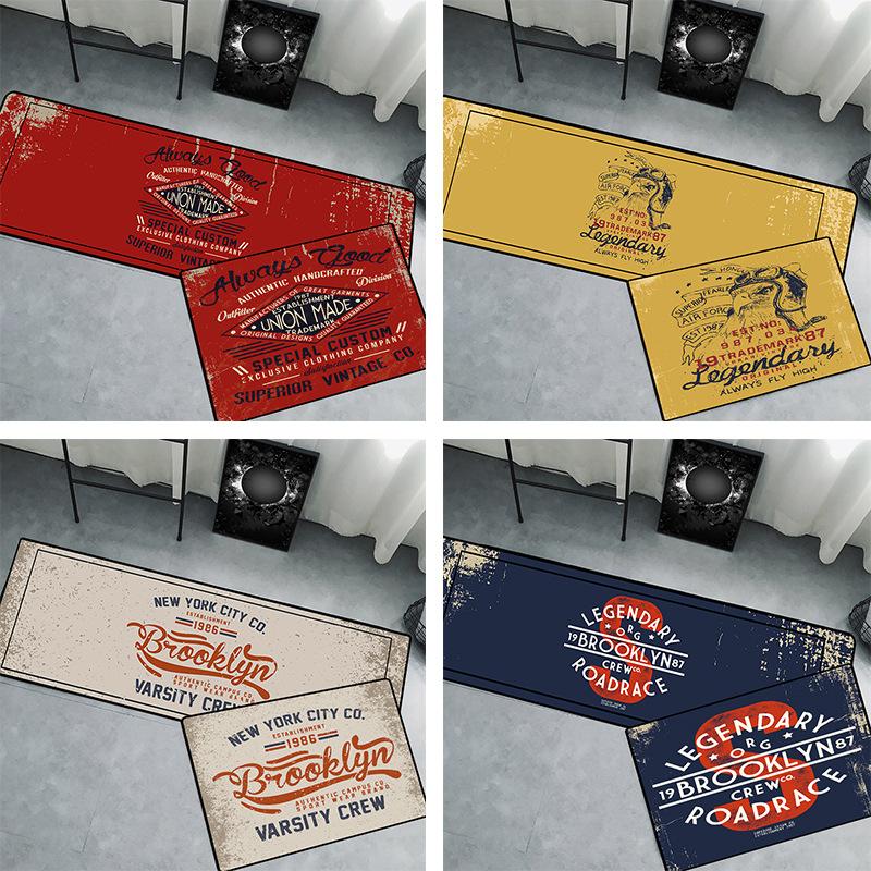 新品酷圖鼓毯卡通印花客廳臥室床邊地毯廚房浴室進門入戶門墊地墊