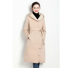 2018冬季韩版修身显瘦中长款羽绒服女保暖加厚耐寒鹅绒服潮双面穿