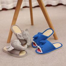 儿童棉麻拖鞋夏季卡通动物宝宝拖鞋室内拖鞋?#20449;?#31461;拖鞋厂家批发