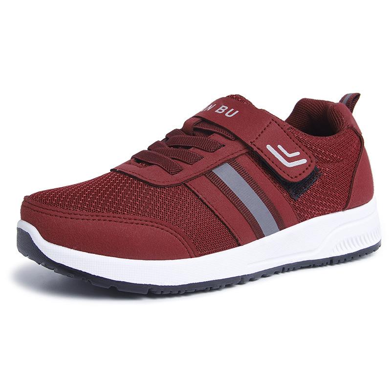 秋季新款恒温健步鞋 女鞋中老年妈妈鞋软底情侣 安全老人磁疗休闲
