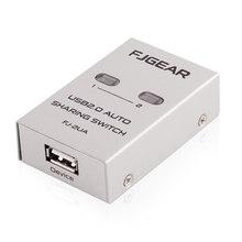丰杰FJ2UA usb打印机共享器2口自动USB打印切换器1拖2usb四进一出