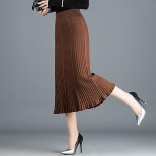 针织裹裙半身裙