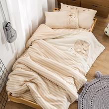 幼儿园被子三件套纯棉秋冬彩棉被套儿童宝宝午睡婴儿床六件套含芯