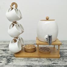 欧式创意陶瓷冷水壶啤酒桶套装水果汁饮料罐家用带纯铜龙头凉水壶