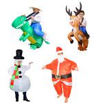 多款万圣节儿童恐龙充气服装成人表演服演出服饰派对霸王龙充气服
