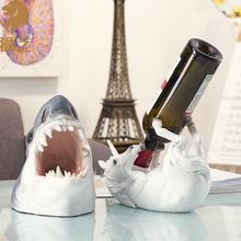 树脂工艺品酒托家居装饰摆件创意动物红酒架鲨鱼酒架跨境外贸批发