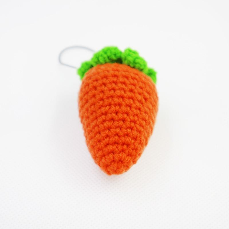 纯手工钩织小胡萝卜卡通手机挂件超萌可爱毛线饰品工艺礼品g33