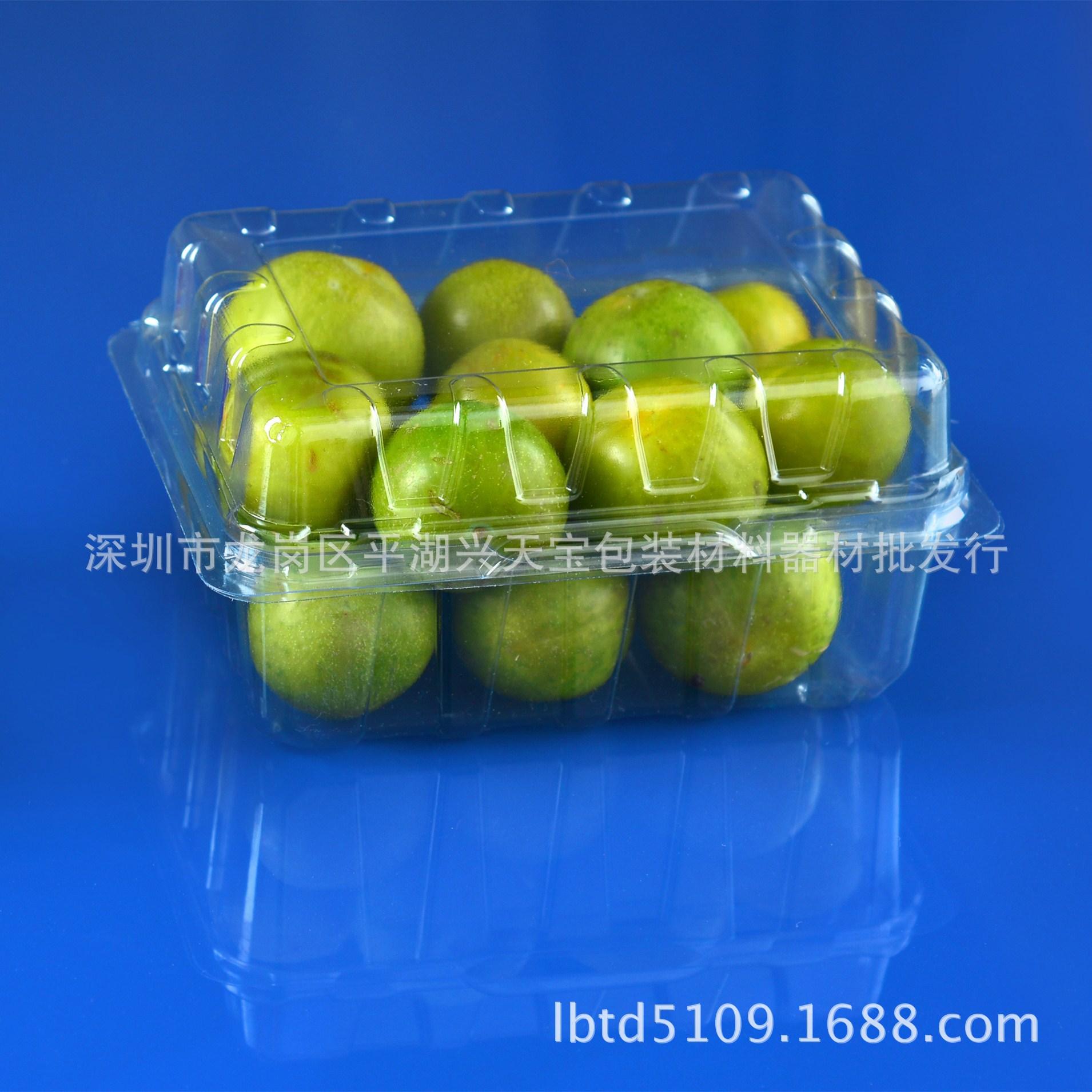 现货一次性环保水果蔬菜水果豆苗盒 透明吸塑塑料包装盒(小)