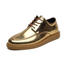 2018夏季新款男鞋英伦透气镜面个性小皮鞋韩版男?#21487;?#21153;休闲鞋子