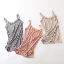 2019新款修身女式背心蕾丝吊带抹胸纯色显瘦背心女时尚性感吊带衫