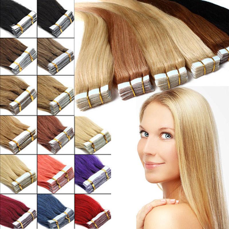 胶片发  真人假发 PU发片 各种颜色 20英寸 厂家直销 一件代发