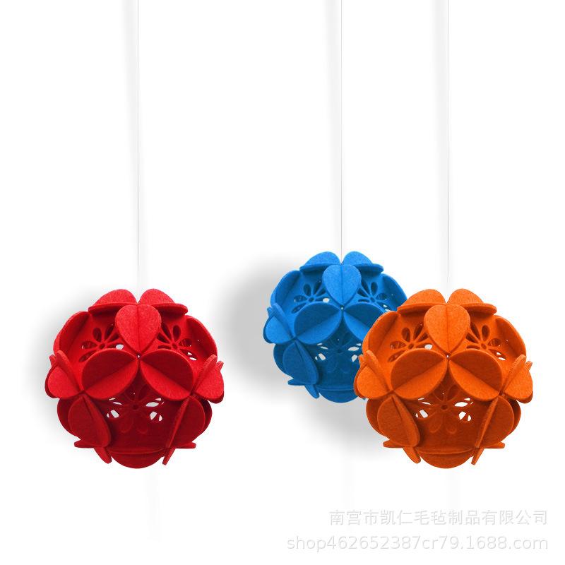 厂家直销幼儿园走廊吊饰 diy手工材料包创意装饰 无纺布绣球挂饰