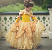2018ins新款贝儿公主童裙儿童礼服蓬蓬裙美女与野兽女童连衣裙