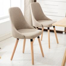 餐椅实木现代简约休闲北欧酒店书桌椅家用?#39318;?#21654;啡厅简易椅子靠背