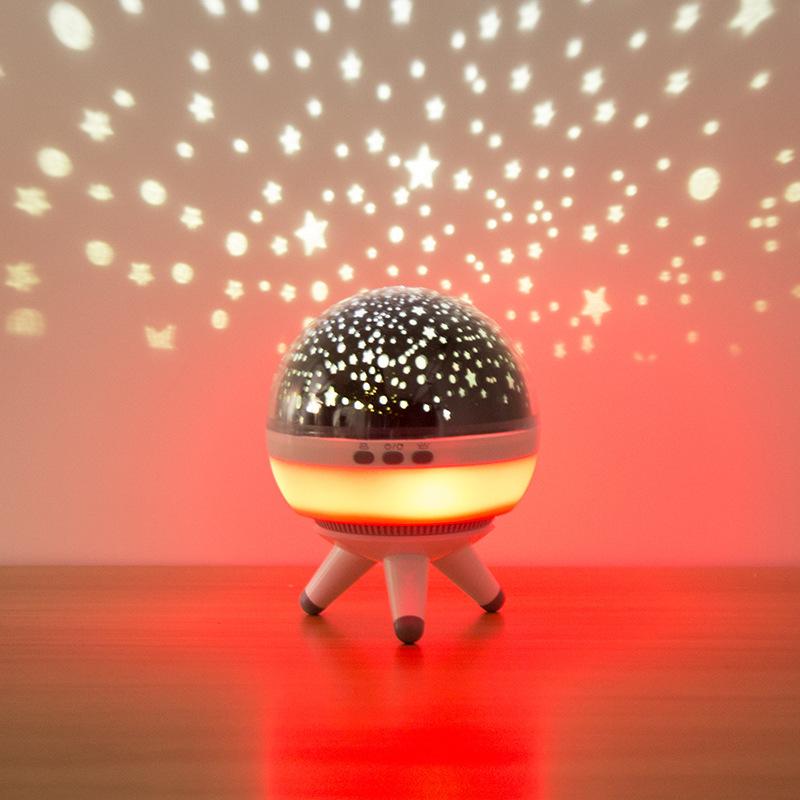 厂家直销旋转星空投影灯新奇特投影仪创意浪漫头小夜灯抖音同款