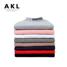 童T恤2018秋冬季韩版新款男童高领长袖 女童纯棉加厚保暖打底衫