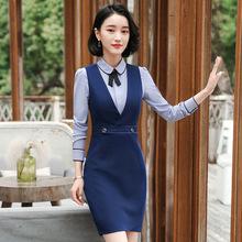 2018新款时尚职业装女装连衣裙套装OL面试餐厅工作服正装空姐制服