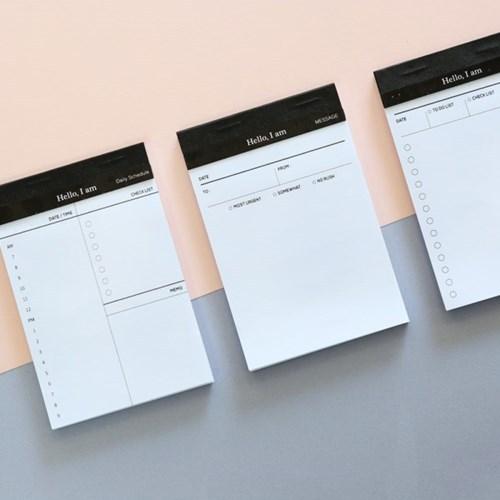 简约商务日程计划记事便签本可撕式 备忘录3款选 清装400一件
