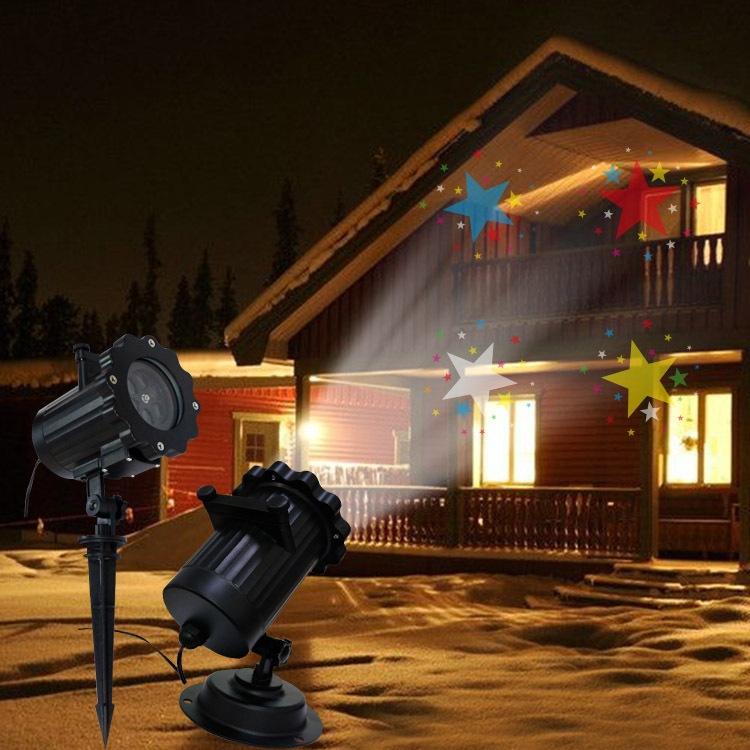 12图_16图案投影灯 12图菲林投影灯 圣诞老人投影灯led 户外防水插卡灯
