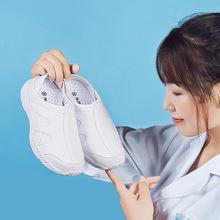 护士鞋白色女夏季2018新款韩版医院平底轻便防滑软底两用式女鞋