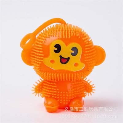 教程毛毛球猴子小格解说口哨bb叫小玩具捏捏叫减压发光弹力球闪光发泄舞蹈儿童视频积木图片