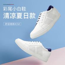 何金昌内增高鞋2019夏季新款男士休闲板鞋透气学生时尚板鞋增6cm